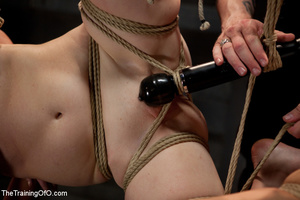 Four bound and suspended girls get tortured and punished badly by bdsm training master - XXXonXXX - Pic 14