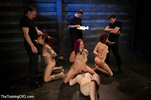 Four nice girls having test assignments in their hard bdsm training - XXXonXXX - Pic 2