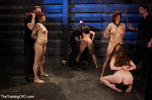 Four nice girls having test assignments in their hard bdsm training - XXXonXXX - Pic 4