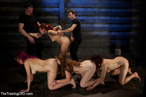 Four nice girls having test assignments in their hard bdsm training - XXXonXXX - Pic 11
