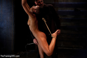 Hot Asian chick roped and suspended punished badly with electricity by her bdsm master - XXXonXXX - Pic 2