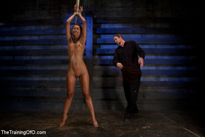 Hot Asian chick roped and suspended punished badly with electricity by her bdsm master - XXXonXXX - Pic 4