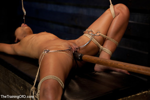 Hot Asian chick roped and suspended punished badly with electricity by her bdsm master - XXXonXXX - Pic 6
