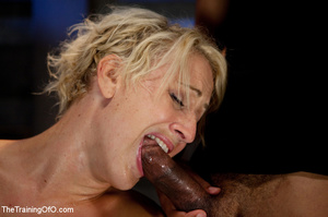 Hot blonde gal roped tightly gets her pussy drilled hard with a stiff rod - XXXonXXX - Pic 6