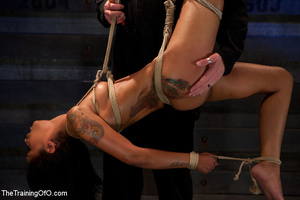Swarhty Asian girl lves to be bound and suspended by her kinky master - XXXonXXX - Pic 1