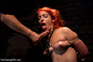 Red girl with pins and stretcher on her nipples gets humiliated and tortured badly before hard fucking - XXXonXXX - Pic 10