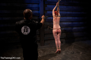 Hot red chick gets roped to an armchair to be tortured and punished badly in bdsm basement - XXXonXXX - Pic 8