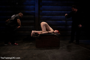 Hot red chick gets roped to an armchair to be tortured and punished badly in bdsm basement - XXXonXXX - Pic 10