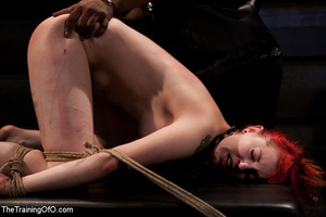 Hot red chick gets roped to an armchair to be tortured and punished badly in bdsm basement - XXXonXXX - Pic 14