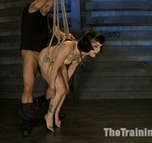 Brunette tattooed bitch loves to be bound and…