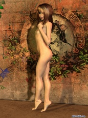 Cool long-haired 3d chick with small tits - Cartoon Porn Pictures - Picture 1