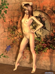 Cool long-haired 3d chick with small tits - Cartoon Porn Pictures - Picture 4