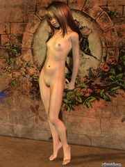Cool long-haired 3d chick with small tits - Cartoon Porn Pictures - Picture 8