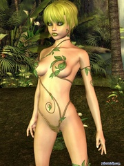 Cool futuristic 3d girl with her delights - Cartoon Porn Pictures - Picture 4