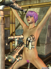 Teen gal with purple hair gets stretched on - Cartoon Porn Pictures - Picture 8