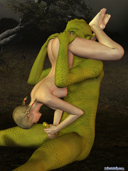 Green monster banging hard small 3d teen girl - Cartoon Porn Pictures - Picture 2