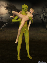 Green monster banging hard small 3d teen girl - Cartoon Porn Pictures - Picture 7