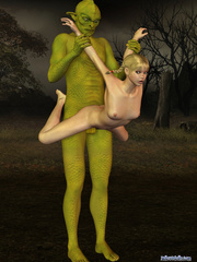 Green monster banging hard small 3d teen girl - Cartoon Porn Pictures - Picture 9