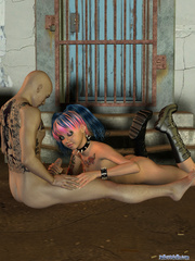 Pigtailed tattooed chick with multicolor hair - Cartoon Porn Pictures - Picture 5