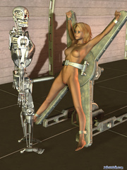 Iron bot fucking cool blonde 3d toon teen - Cartoon Porn Pictures - Picture 1
