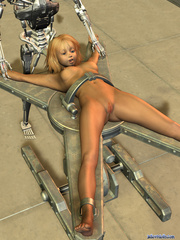 Iron bot fucking cool blonde 3d toon teen - Cartoon Porn Pictures - Picture 3