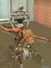 Iron bot fucking cool blonde 3d toon teen - Cartoon Porn Pictures - Picture 7