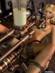 Blonde 3d toon girl gets banged badly by big - Cartoon Porn Pictures - Picture 2