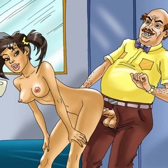 Male toon teacher finds his pigtailed pupil - Cartoon Sex - Picture 3