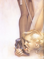 Awesome erotic fetish drawings with - BDSM Art Collection - Pic 6