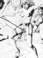 Very hot black and white drawings with - BDSM Art Collection - Pic 2