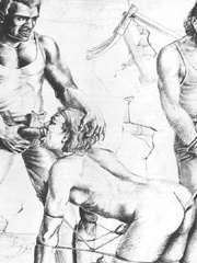 Very hot black and white drawings with - BDSM Art Collection - Pic 5