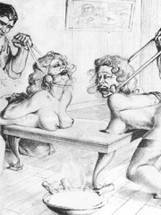 Very hot black and white drawings with - BDSM Art Collection - Pic 7