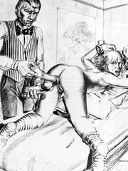 Very hot black and white drawings with - BDSM Art Collection - Pic 8