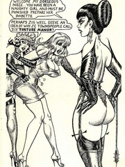 Hot brunette mistress in black and - BDSM Art Collection - Pic 5