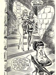 Hot brunette mistress in black and - BDSM Art Collection - Pic 9