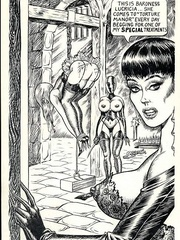 Hot brunette mistress in black and - BDSM Art Collection - Pic 10