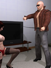 Cool 3d bdsm comix with bald dude - BDSM Art Collection - Pic 1