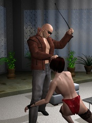 Cool 3d bdsm comix with bald dude - BDSM Art Collection - Pic 3