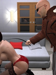 Cool 3d bdsm comix with bald dude - BDSM Art Collection - Pic 4