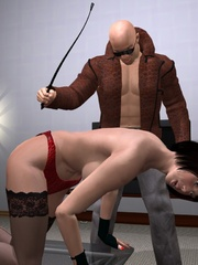 Cool 3d bdsm comix with bald dude - BDSM Art Collection - Pic 5