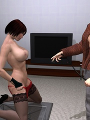 Cool 3d bdsm comix with bald dude - BDSM Art Collection - Pic 6