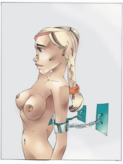 Gets high watching cool fetishartwork - BDSM Art Collection - Pic 9