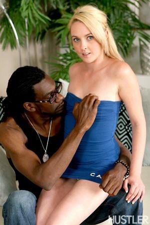 Naughty blonde teen seduces black daddy  - XXX Dessert - Picture 5