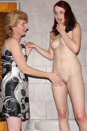 Dirty blonde mom seduces her son's GF to - XXX Dessert - Picture 8
