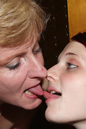 Dirty blonde mom seduces her son's GF to - XXX Dessert - Picture 14