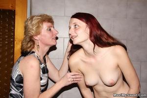 Dirty blonde mom seduces her son's GF to - XXX Dessert - Picture 25