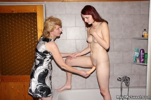 Dirty blonde mom seduces her son's GF to - XXX Dessert - Picture 27