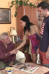 Lustful dad sends his son to the shop to seduce…