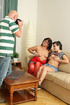 Bald man shooting on cam as their son's sweet girl…