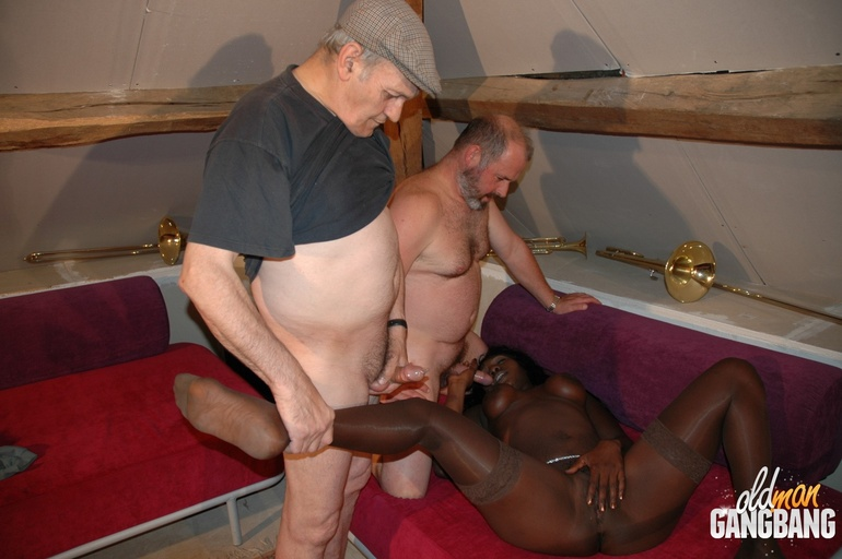 Horny old black man